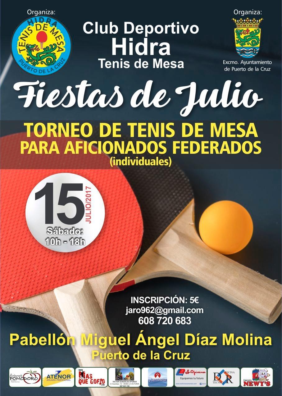 Torneo de tenis de mesa puerto de la cruz fiestas de julio 2017 - Torneo tenis de mesa ...
